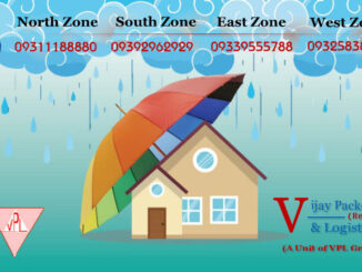 Home shifting in the rainy season.